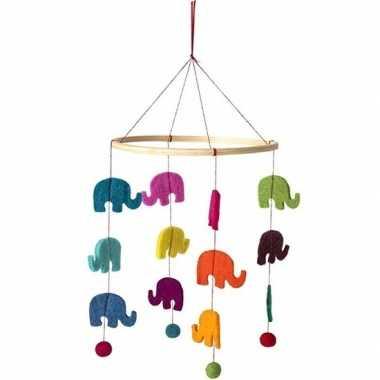 Dierentuin dieren olifant mobiel 45 cm hangdecoraties