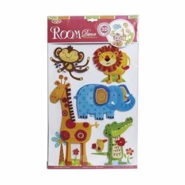 Dierentuin stickers kamer/raamdecoratie 3d voor kinderen