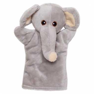 Dierentuindier knuffel olifant 21 cm
