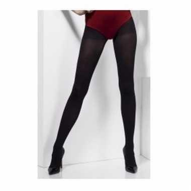 Dikke zwarte panty one size voor dames