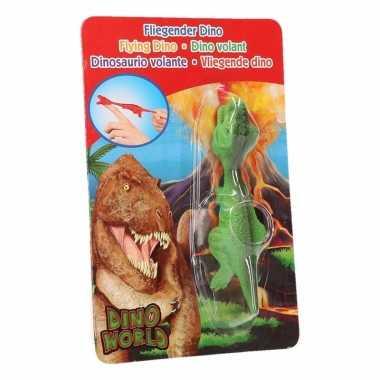 Dinosaurus speel katapult groene t-rex
