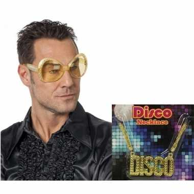 Disco accessoires verkleedset voor heren