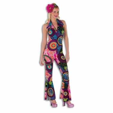 Disco jumpsuit multicolor dames