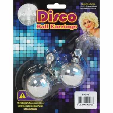 Discobal oorbellen 60s stijl
