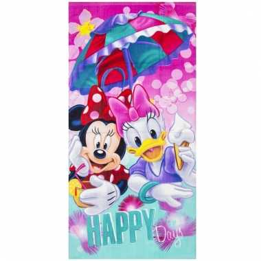 Disney badlaken/strandlaken minnie en katrien 70 x 140 cm