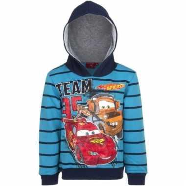 Disney cars capuchonsweater blauw