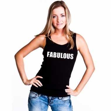 Fabulous singlet zwart dames