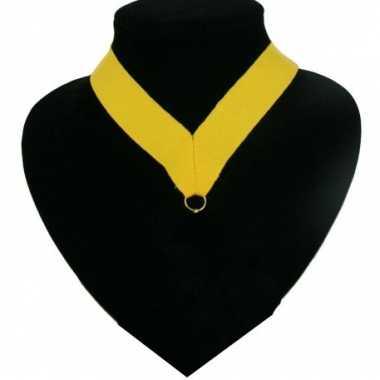 Fan medaille lint geel