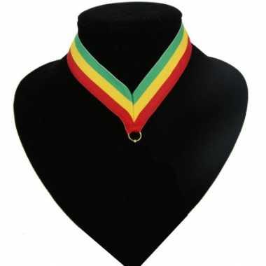 Fan medaille lint groen, geel, rood