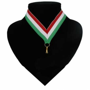 Fan medaille lint rood, wit en groen