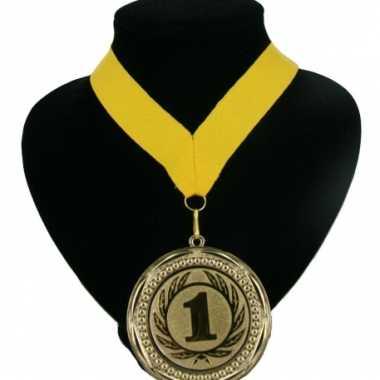 Fan medaille nr. 1 lint geel