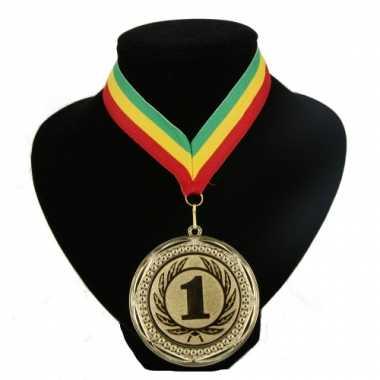 Fan medaille nr. 1 lint groen geel rood
