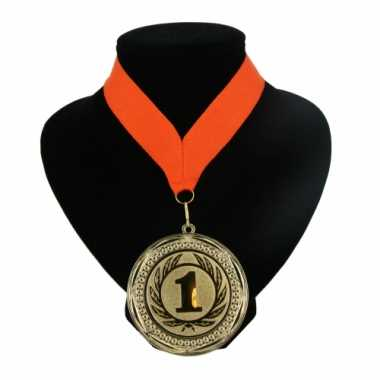 Fan medaille nr. 1 lint oranje