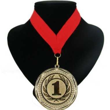 Fan medaille nr. 1 lint rood