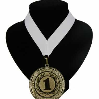 Fan medaille nr. 1 lint wit