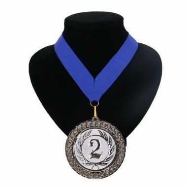 Fan medaille nr. 2 lint blauw