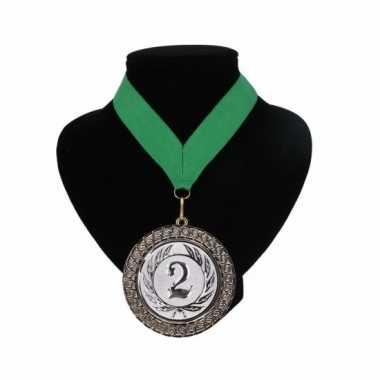 Fan medaille nr. 2 lint groen