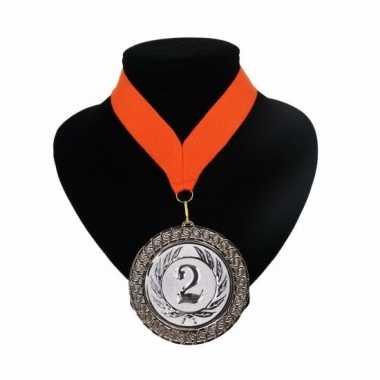 Fan medaille nr. 2 lint oranje