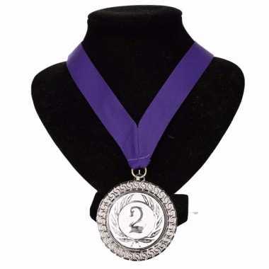Fan medaille nr. 2 lint paars