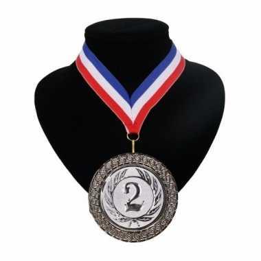 Fan medaille nr. 2 lint rood wit blauw