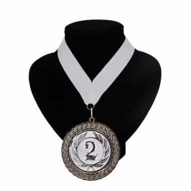 Fan medaille nr. 2 lint wit