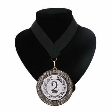 Fan medaille nr. 2 lint zwart