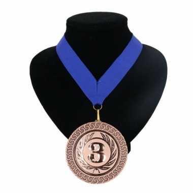 Fan medaille nr. 3 lint blauw