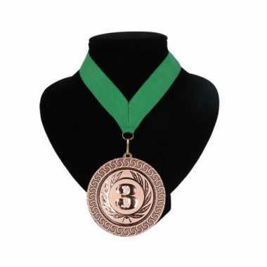 Fan medaille nr. 3 lint groen