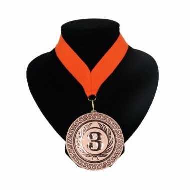 Fan medaille nr. 3 lint oranje