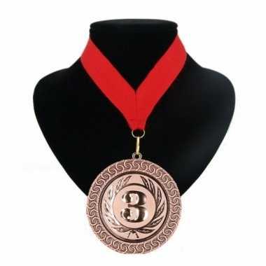 Fan medaille nr. 3 lint rood