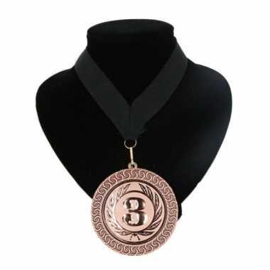 Fan medaille nr. 3 lint zwart