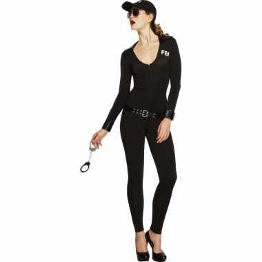Fbi jumpsuit voor dames in de kleur zwart