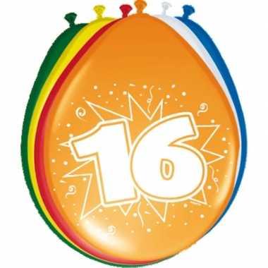 Feest ballonnen met 16 jaar opdruk