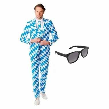 Feest beierse print tuxedo/business suit 50 (l) voor heren met gratis