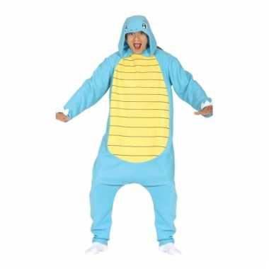 Feest blauwe waterschildpad outfit voor volwassenen