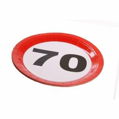 Feest borden 70 jaar