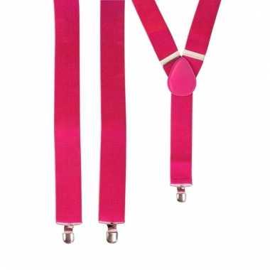 Feest bretels roze