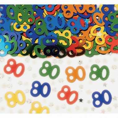 Feest confetti 80 jaar
