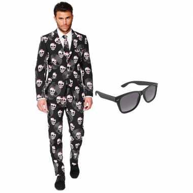 Feest halloween tuxedo/business suit 56 (xxxl) voor heren met gratis