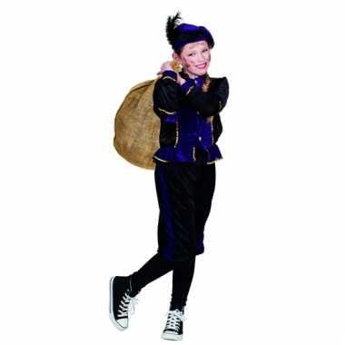Feest paarse pieten outfit voor kinderen