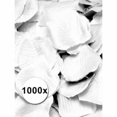 Feest rozenblaadjes wit 1000 st
