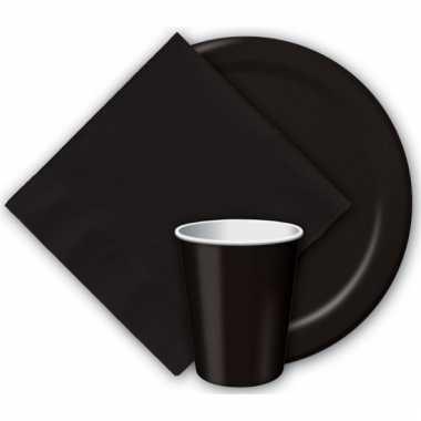 Feest servetjes zwart