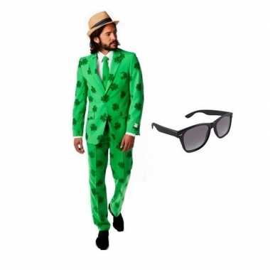 Feest sint patricks day tuxedo/business suit 50 (l) voor heren met gr