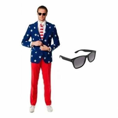 Feest tuxedo/business suit country colors 48 (m) voor heren met grati