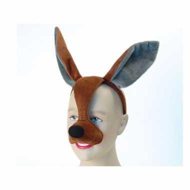 Feestaccessoires kangoeroe masker met geluid