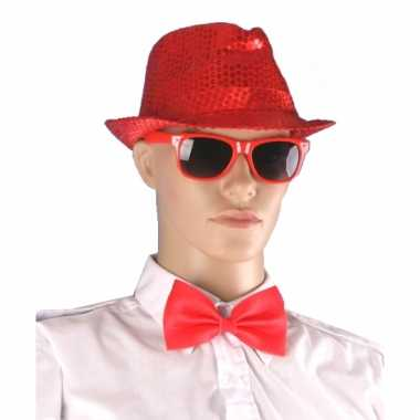 Feestartikelen accessoires set rood