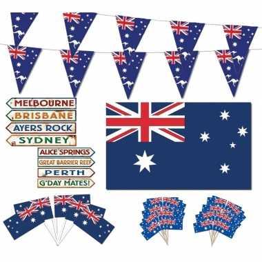 Feestartikelen australie thema versiering xl pakket