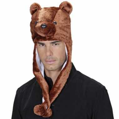 Feestartikelen beren muts voor volwassenen
