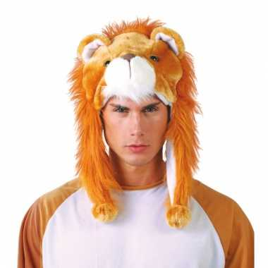 Feestartikelen dierenmuts leeuw voor volwassenen