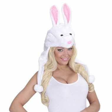 Feestartikelen konijnen muts voor volwassenen